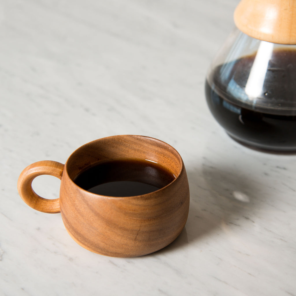 Carved Wood Mug