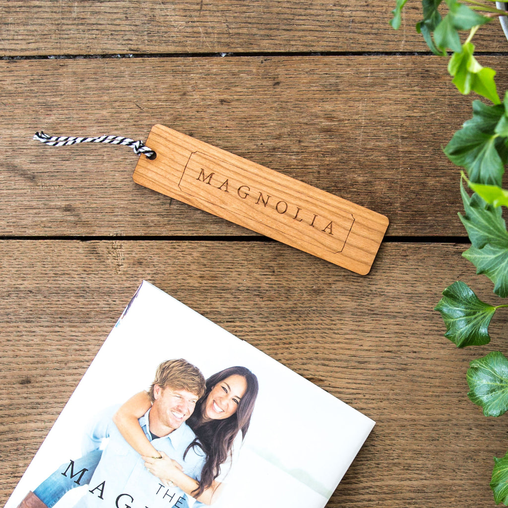 Magnolia Wooden Bookmark