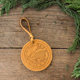 Silos Stamped Leather Ornament