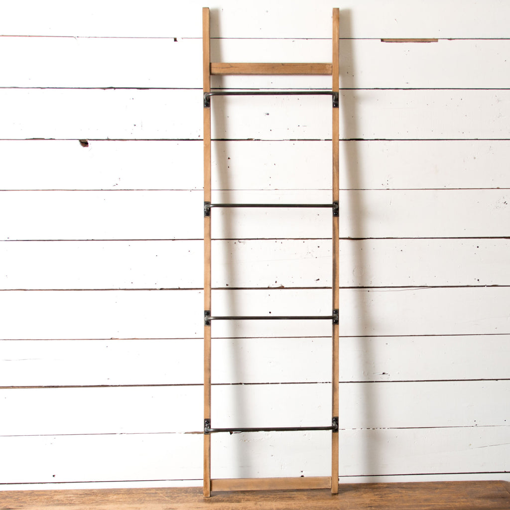 Metal And Wood Wall Ladder Magnolia Market Chip
