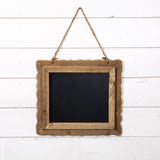 Wood Scalloped Blackboard