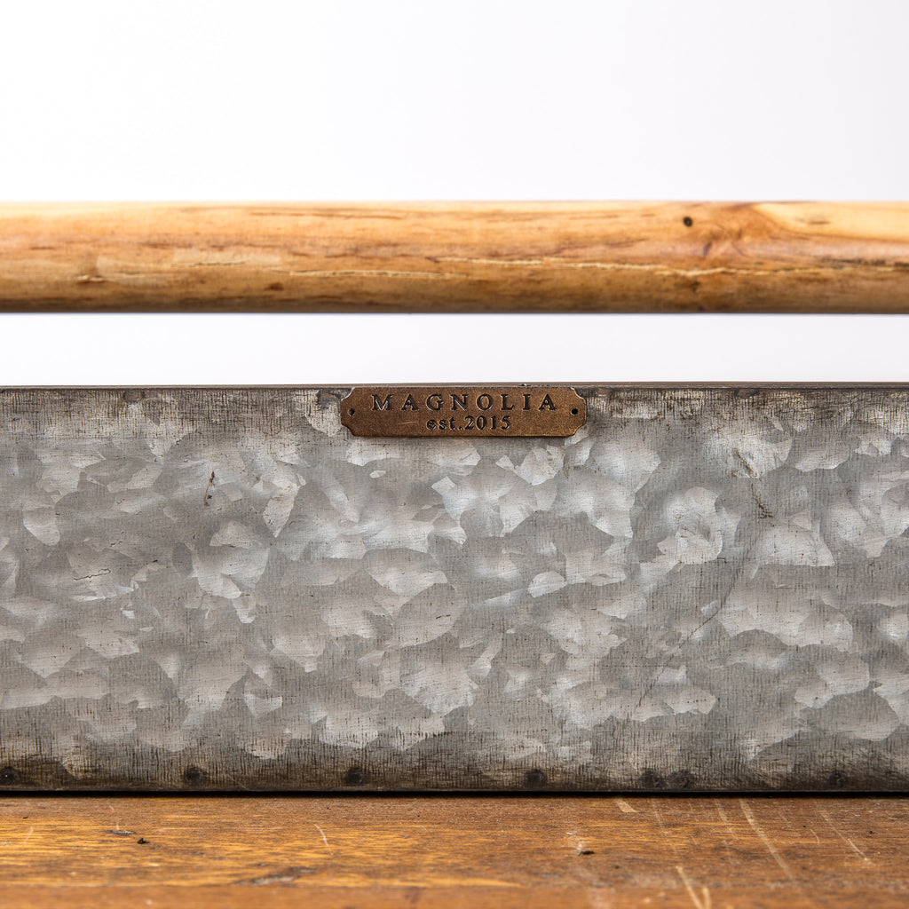 Metal Trough with Wooden Handle