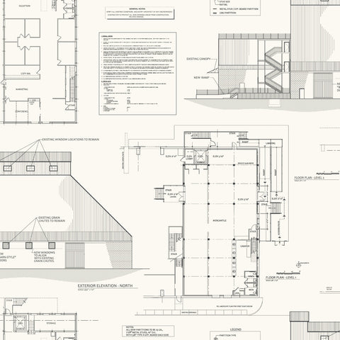 white and black magnolia market blueprint wallpaper