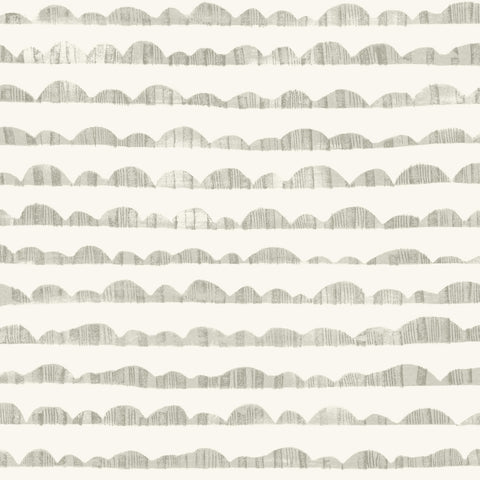 grey and white rolling hill sketch pattern wallpaper