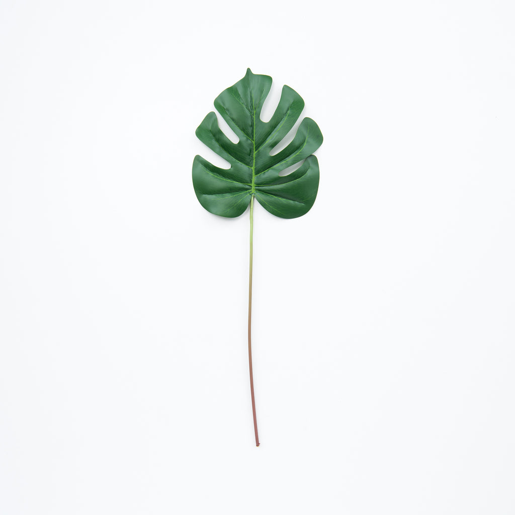 small faux monstera leaf