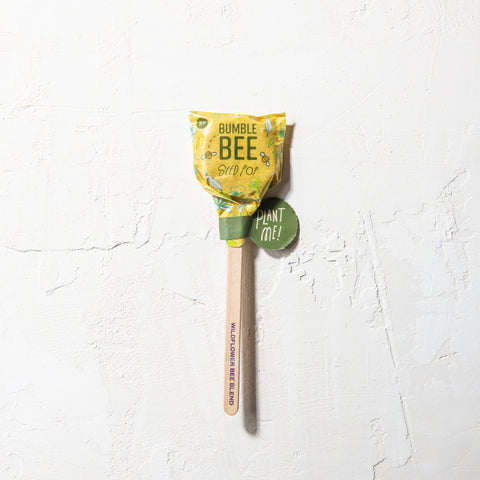 bumble bee wildflower seed blend planting pop