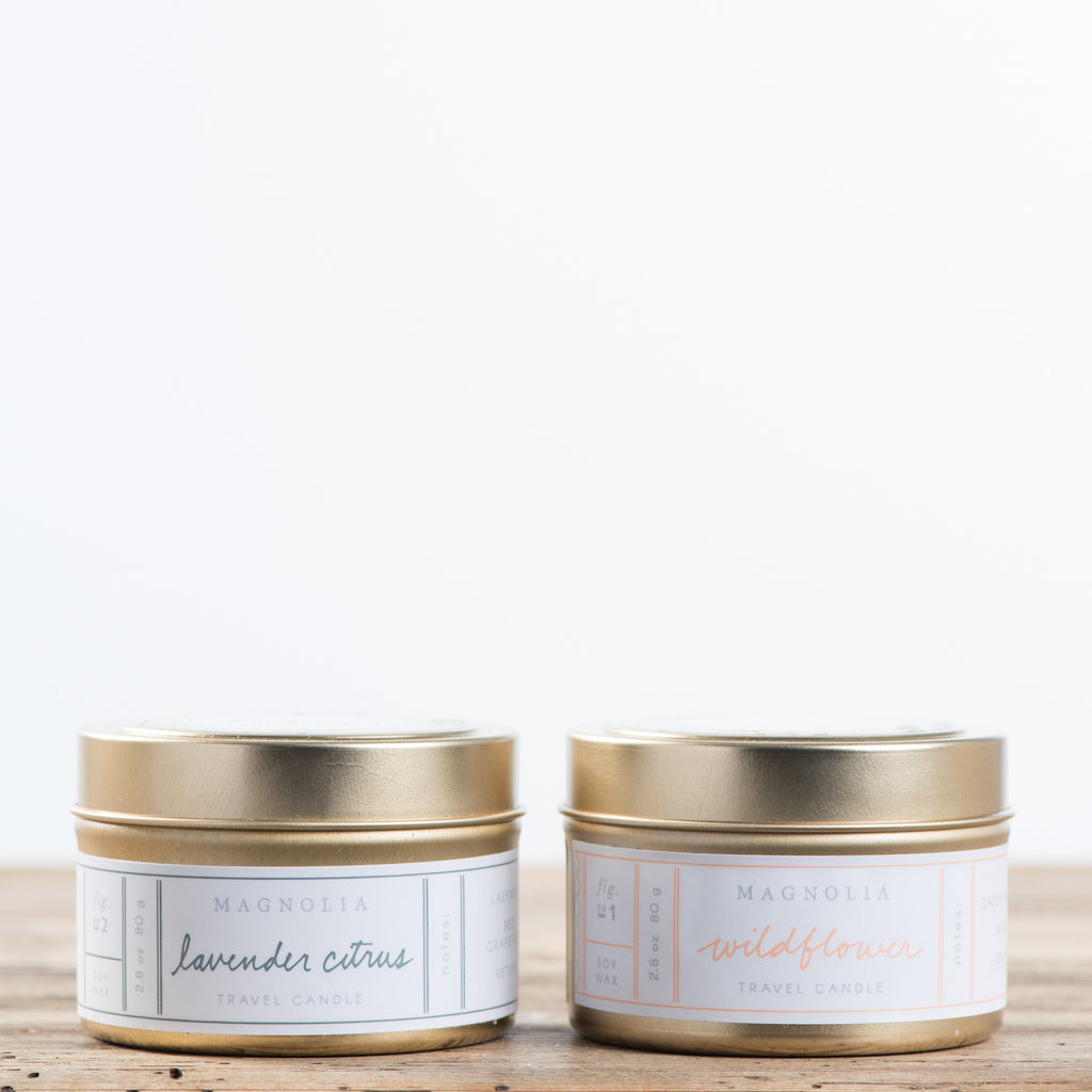 travel-sized candles