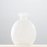 white glass bud vase