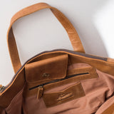 large brown leather satchel