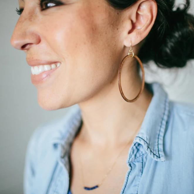 Wooden Loop Earrings Magnolia Market Chip Amp Joanna Gaines