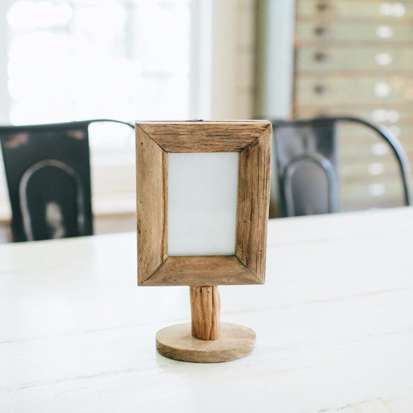 Wood Frame on Stand