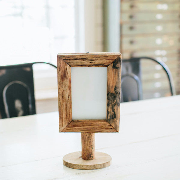 Wood picture Frame on Stand