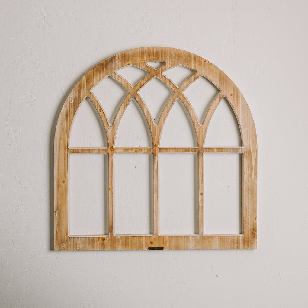Magnolia Home Arched Wooden Window Frame
