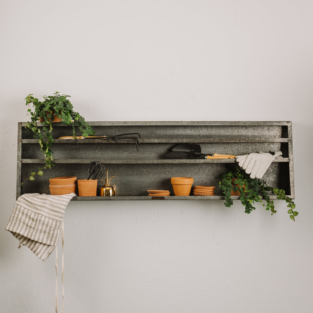 Long Rectangular Metal Shelf