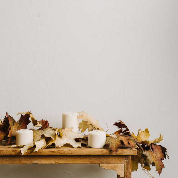 crafted autumn leaves garland   magnolia chip amp joanna