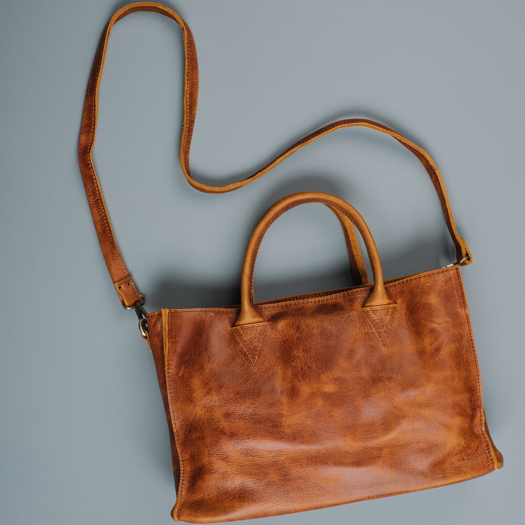 Russet Leather Satchel