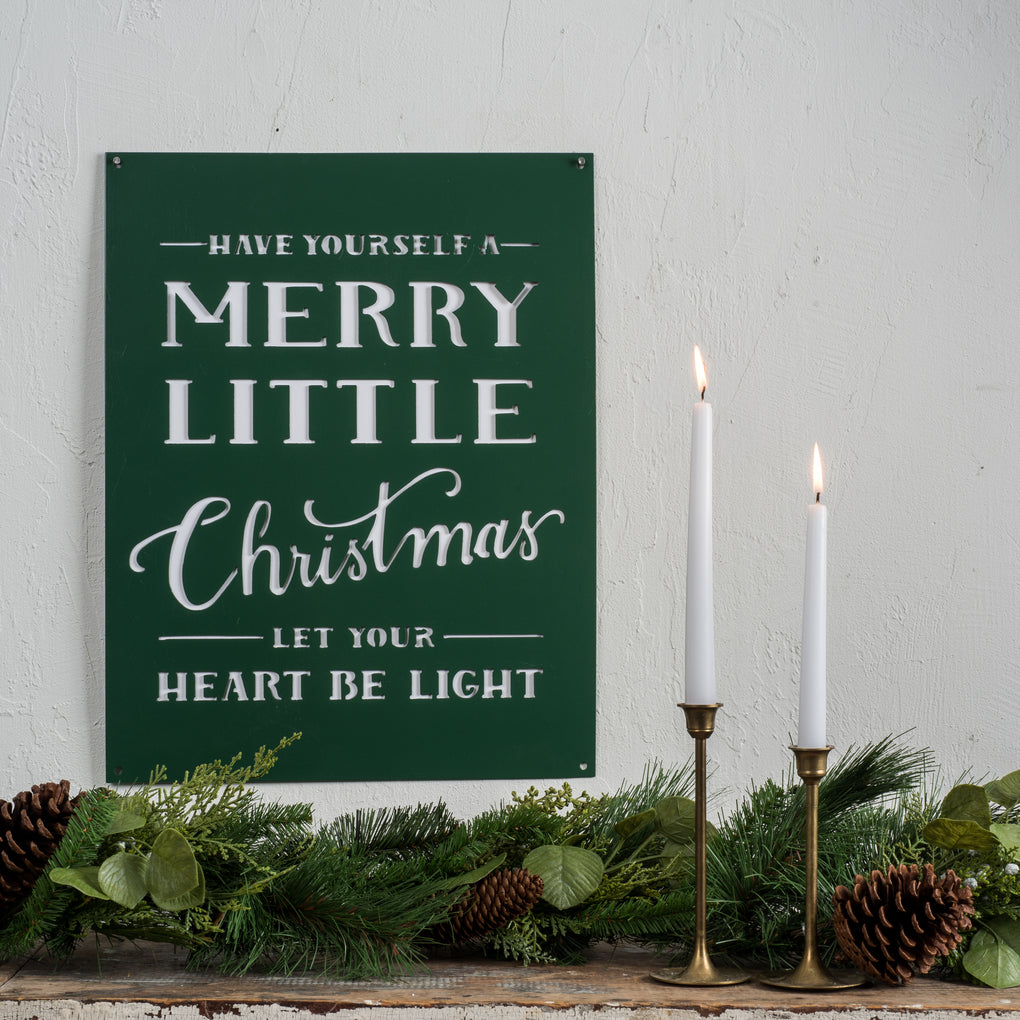Merry Little Christmas Sign Chip & Joanna Gaines Magnolia