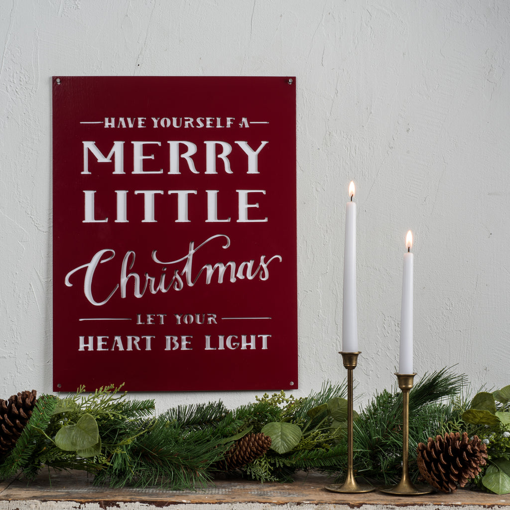 Merry Little Christmas Sign Magnolia Market Chip