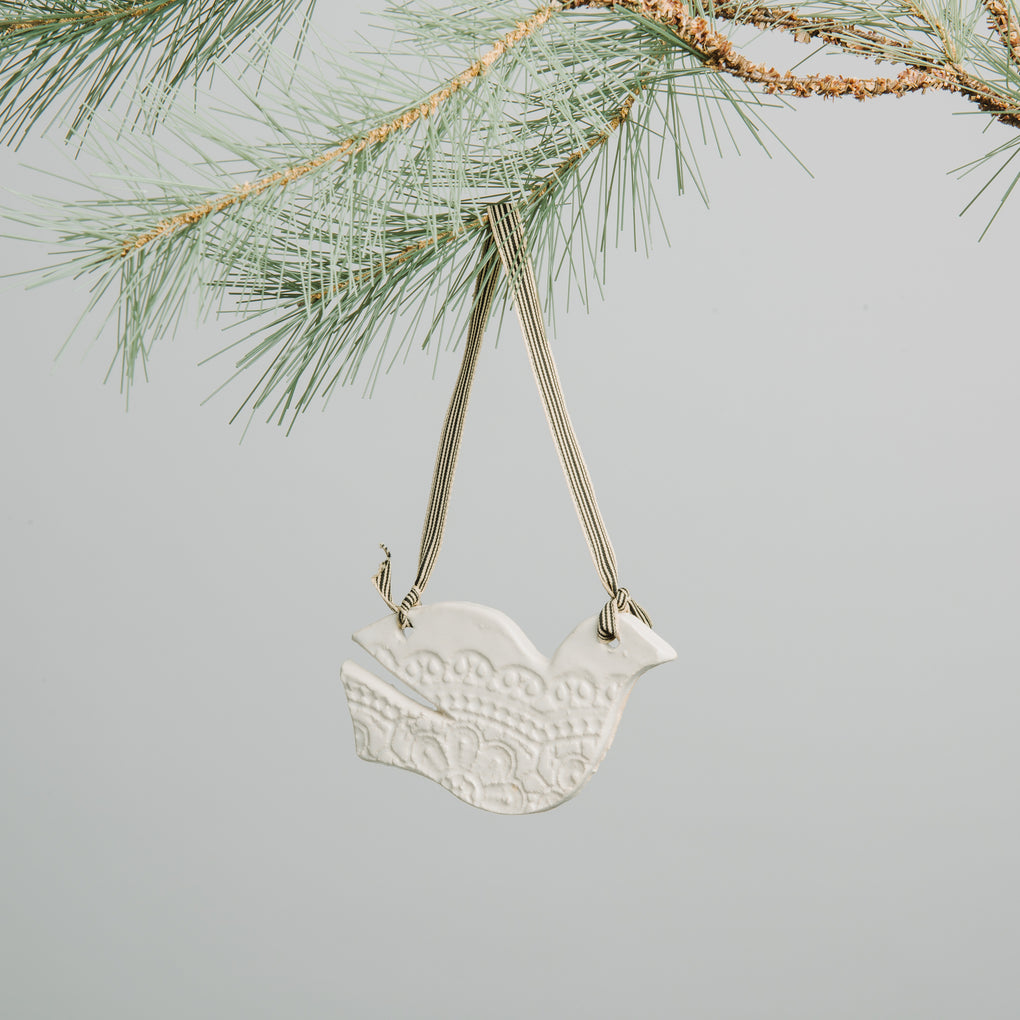 Waco Texas Made Ceramic Dove Ornament Magnolia Chip & Joanna Gaines