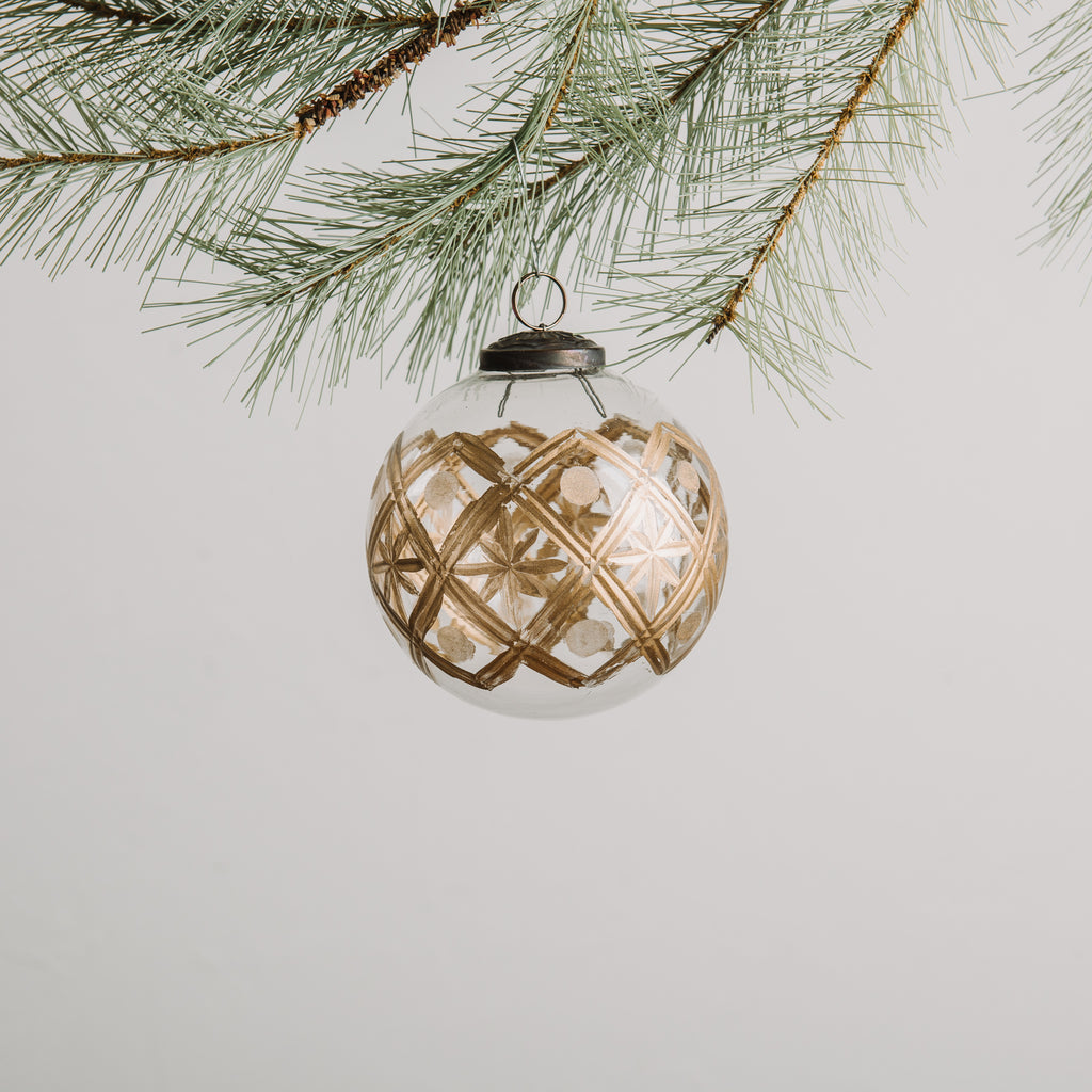 Gold Etched Christmas Ornament Chip Joanna Gaines Magnolia