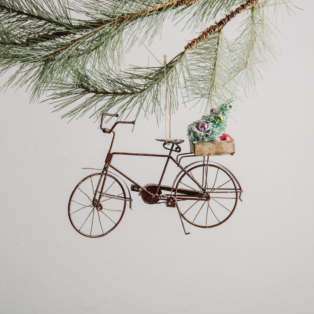 Tin Red Bicycle Ornament - Magnolia Market | Chip & Joanna Gaines
