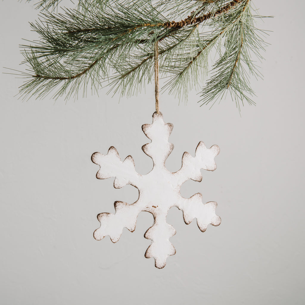 Distressed Snowflake Christmas Ornament Chip & Joanna Gaines