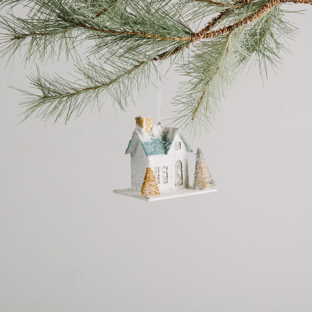 White House Ornament Blue Roof Christmas Magnolia Chip Joanna Gaines