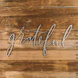 Jimmy Don Grateful Script Sign