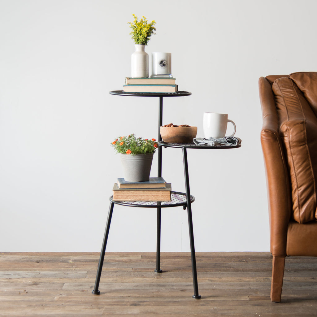 Famous Tiered Metal Accent Table - Magnolia | Chip & Joanna Gaines SS82