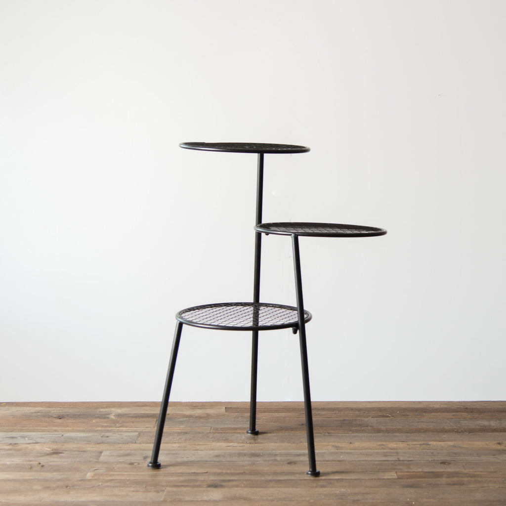 Nice Tiered Metal Accent Table