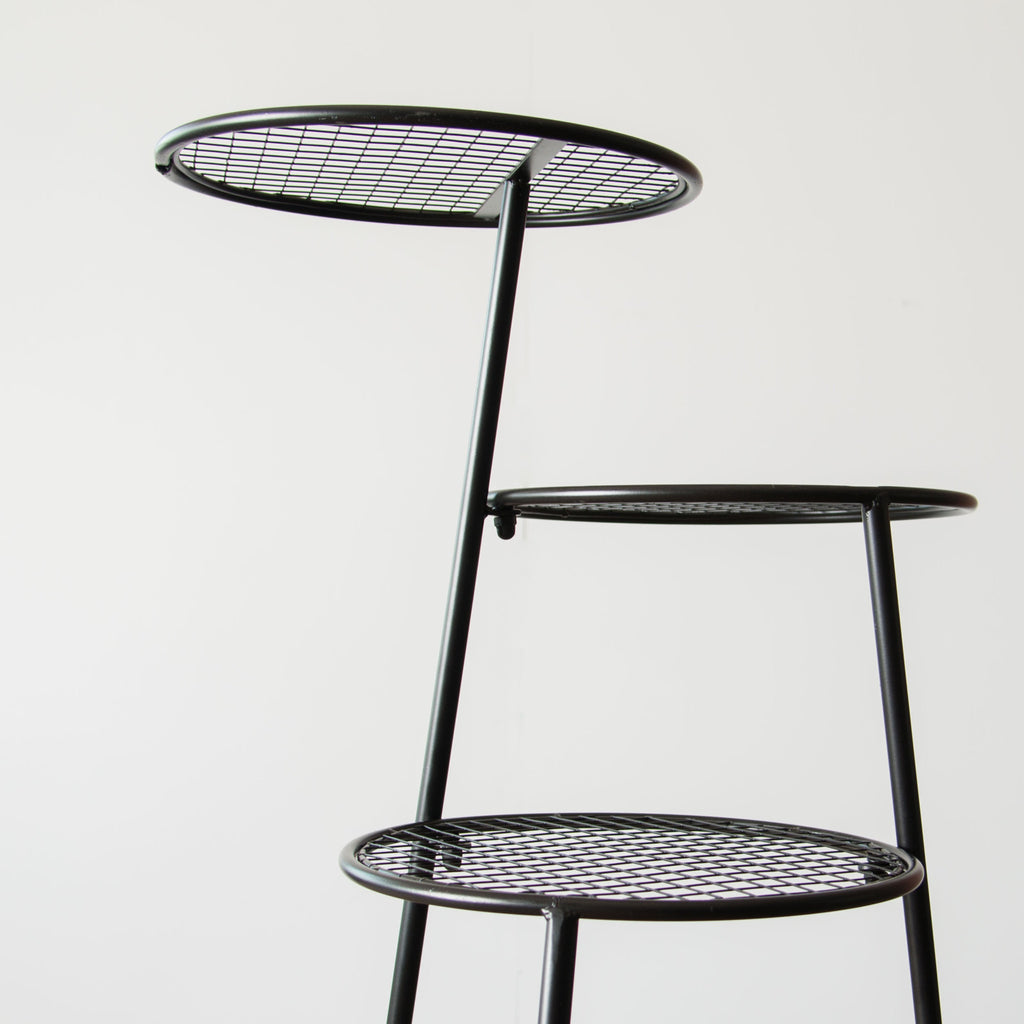 Tiered Metal Accent Table