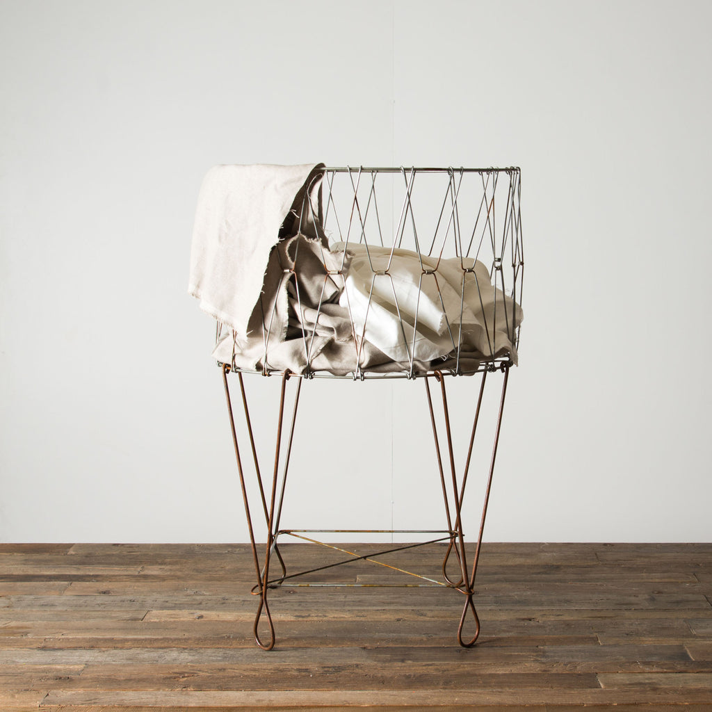 Relatively French Laundry Basket - Magnolia | Chip & Joanna Gaines OR93