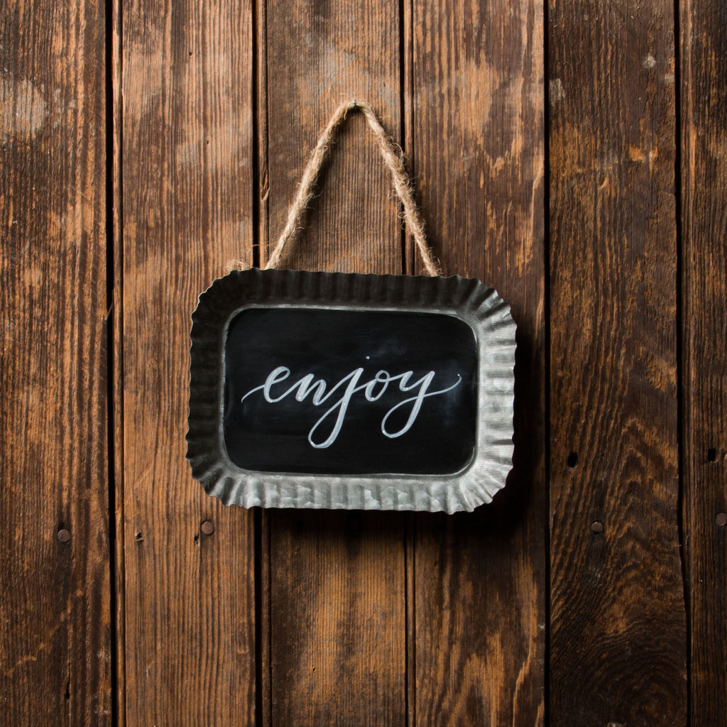 Scalloped Chalkboard Sign Magnolia Chip Amp Joanna