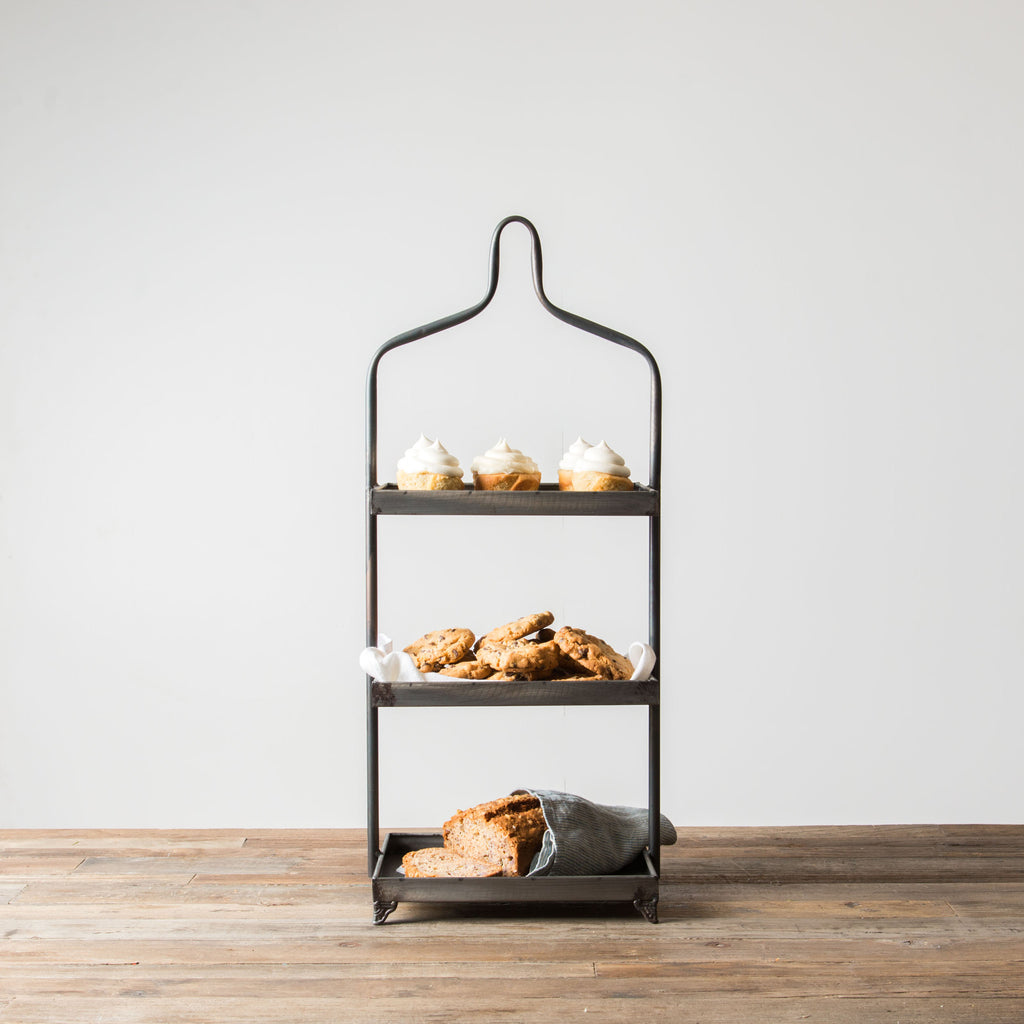 metal tiered display magnolia chip joanna gaines