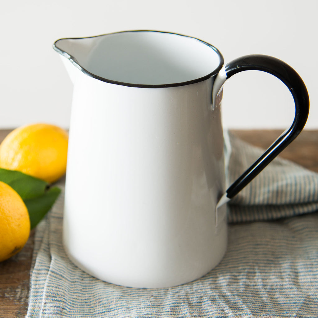 Vintage Enamel Pitcher