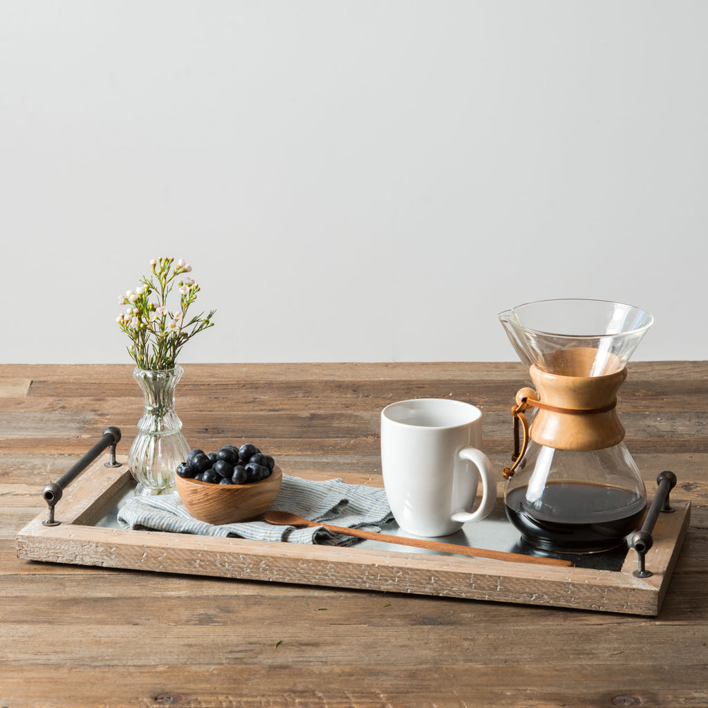 Wood Framed Tray