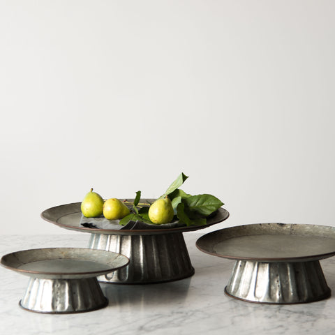 Embossed Metal Cake Stands