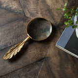 Pewter Feather Magnifying Glass