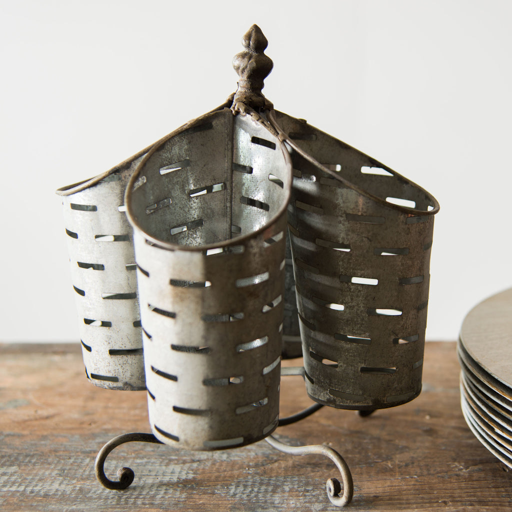 Galvanized Utensil Holder Magnolia Market Chip