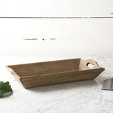 Rectangular Reclaimed Wood Trays with Handles