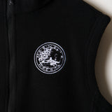 black magnolia seal zip-up vest