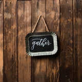 Scalloped Chalkboard Sign