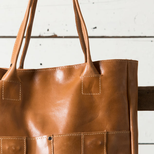 Distressed Leather Tote Magnolia Market Chip Amp Joanna