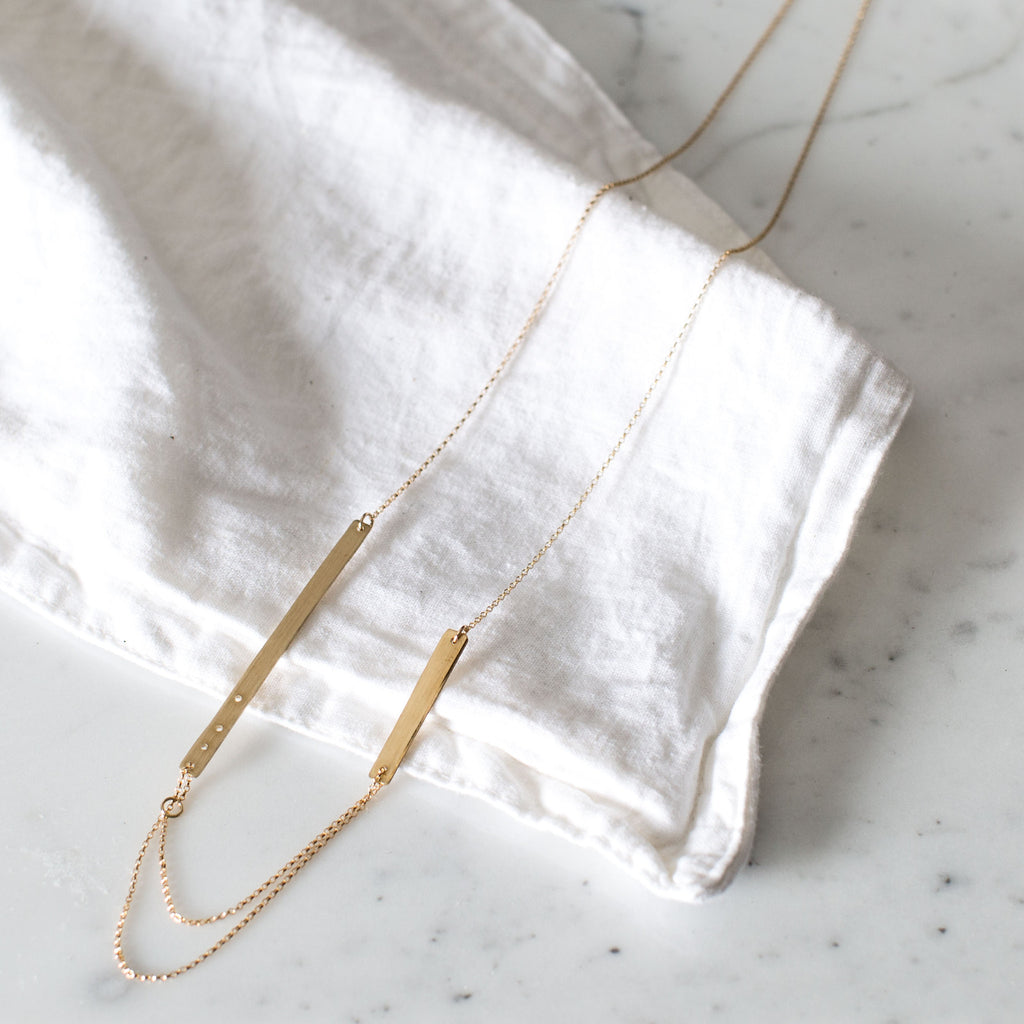 Multi-bar Chain Necklace