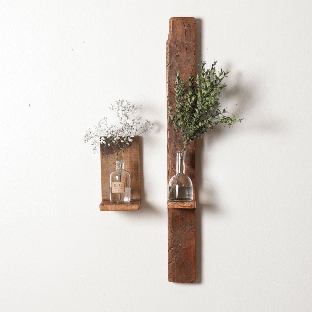Wood Wall Shelves ~ Reclaimed wood wall shelf magnolia chip joanna gaines