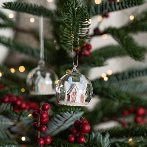 Mini House Cloche Ornament