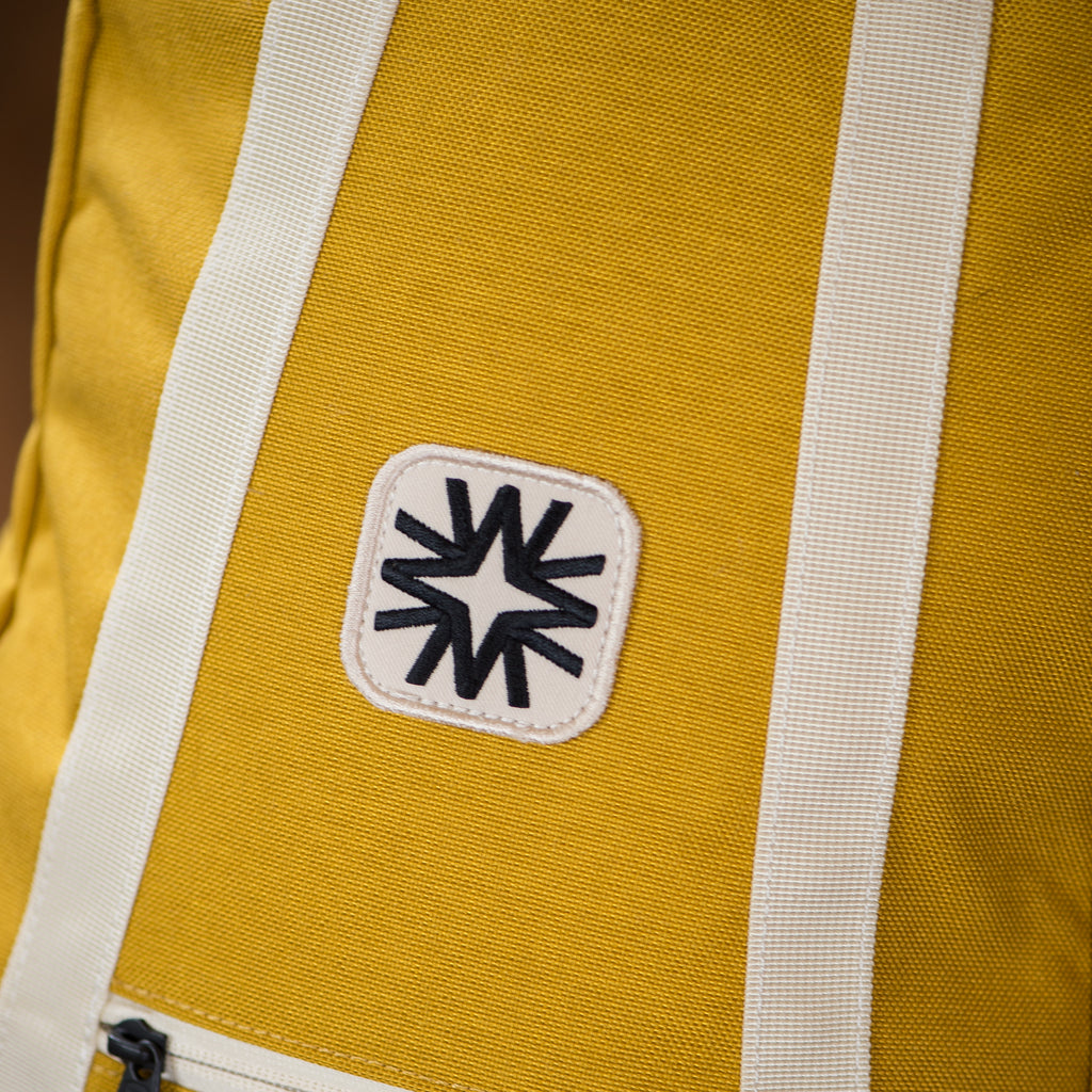 small yellow backpack