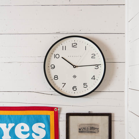 black framed modern clock