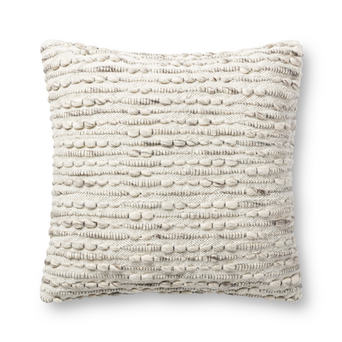 raised texture large grey decorative pillow