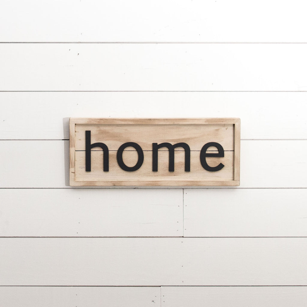 Home Shiplap Sign